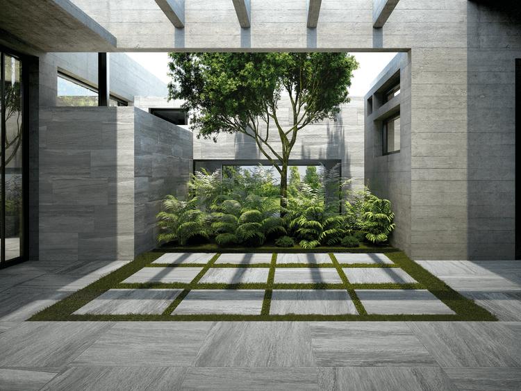 Gres porcellanato effetto pietra per interni ed esterni - Percorsi Extra