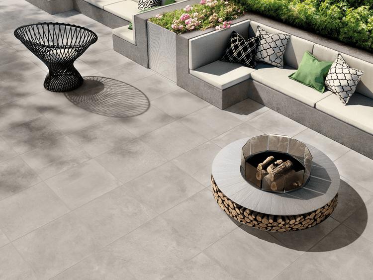 Gres porcellanato strutturato effetto cemento - Skywall | Contract
