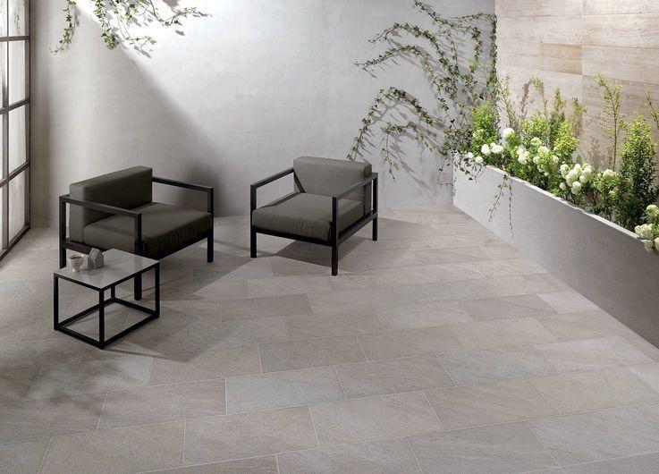 POINT Silver 30x60 cm - strutt. - Grau - Außenbereich