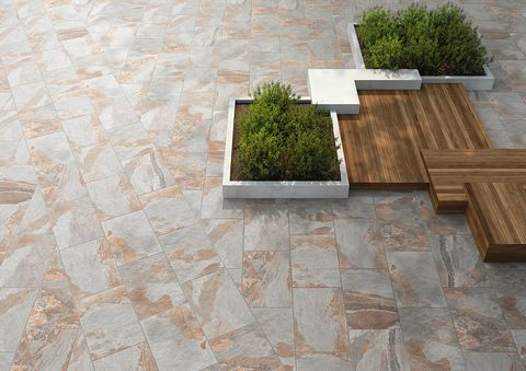 Natural stone effect tiles for outdoors - Midlake