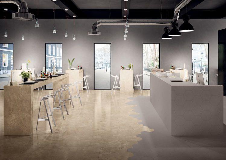 ELEMENTS LUX Crema Beige Beige marble effect porcelain tiles - Elements Lux - Crema Beige