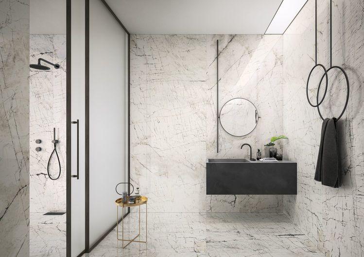 Eclectic - Mistiq White marble effect tiles White marble effect porcelain tiles - Eclectic - Mistiq White