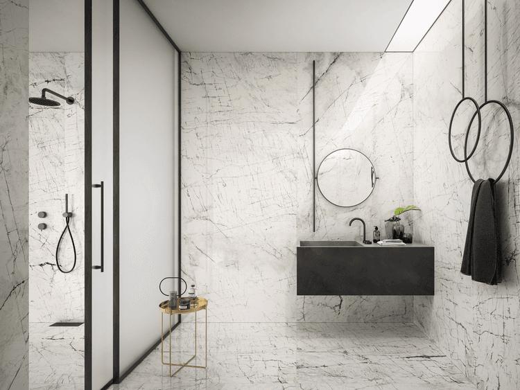 Carreaux en grès cérame effet marbre - Eclectic