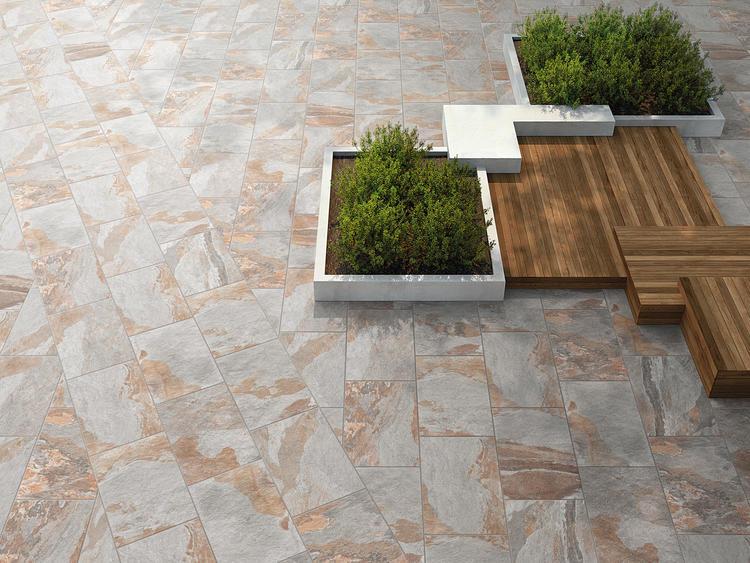 Gres porcellanato effetto pietra naturale per outdoor - Midlake