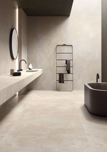 Brystone Ivory 120x278 - 120x120 RT - Blanc - intérieur