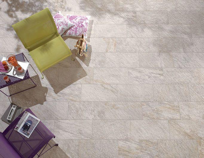 PERCORSI QUARTZ White 30x60 cm - strutt. - Blanc - extérieur