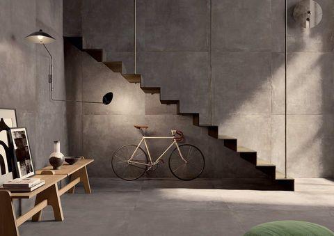 Suelos de gres industrial de cemento