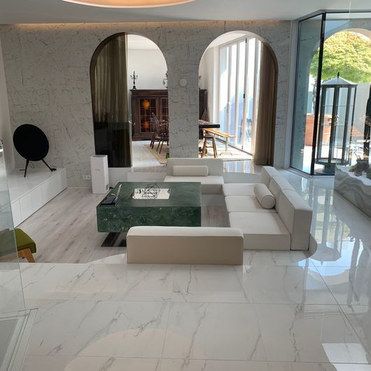 Eclectic MISTIQ WHITE 60x120 wall, Elements Lux LINCOLN 60x60 floor