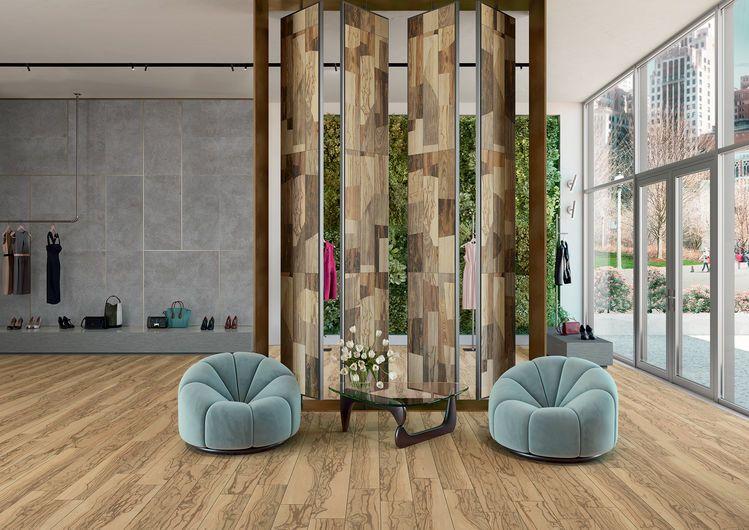 Ultramod Design - gres porcellanato effetto legno moderno beige
