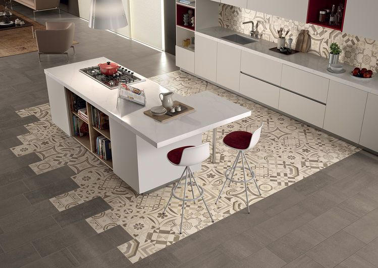 Cementine rectified porcelain stoneware keope ceramic tiles