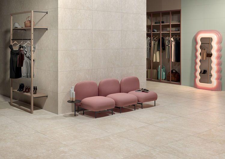 pavimenti effetto pietra da interno bianca