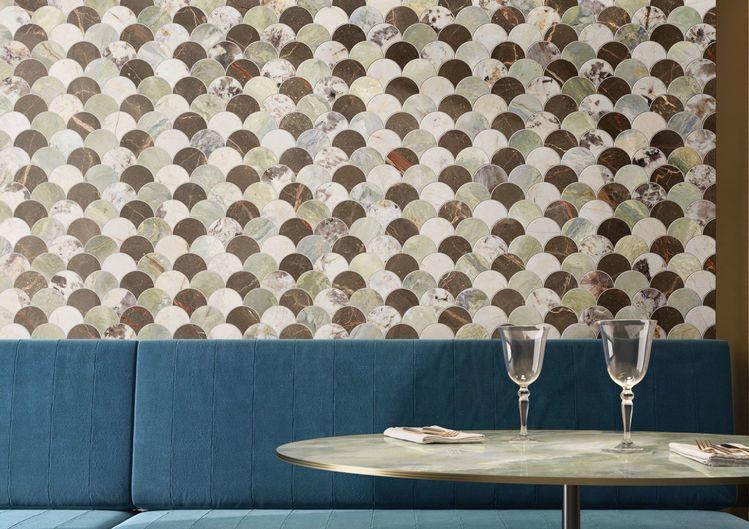 rivestimenti effetto marmo lucido art deco mosaico
