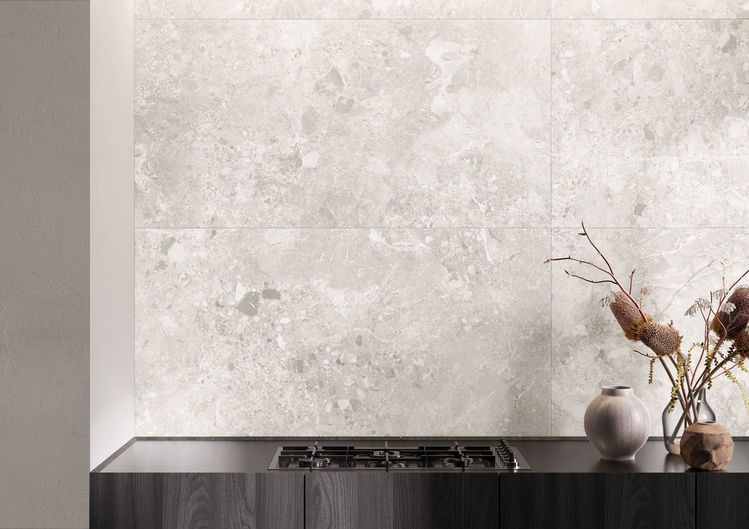white stone effect wall tiles