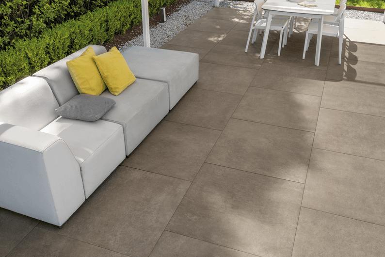 pavimento efecto concreto para exterior 20 mm