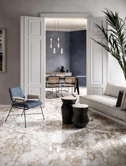 Oniric White 120X120 - 120x278 cm lappato RT - Blanco - Interiores