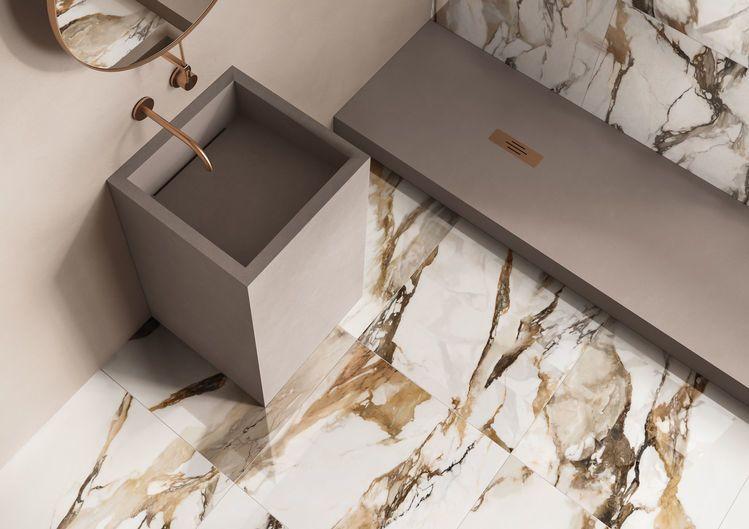 pavimenti effetto marmo lappato art deco