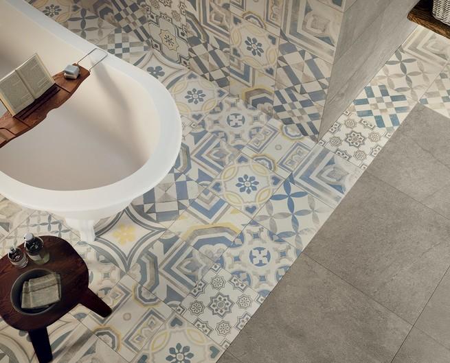 Gres porcellanato cementine ceramiche keope - Cementina bagno ...