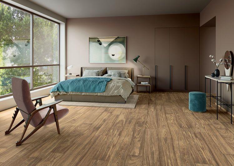 Ultramod Walnut - gres porcellanato per pavimento effetto legno marrone moderno