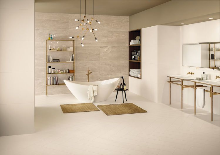 Elements DESIGN Ivory 20x120-60x120 nat RT Elements LUX Crema Beige 60x120 cm Lappato RT