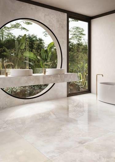 pavimento effetto marmo lappato bianco